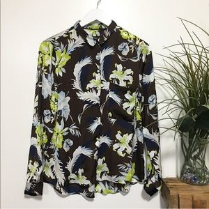 Used / Zara floral blouse